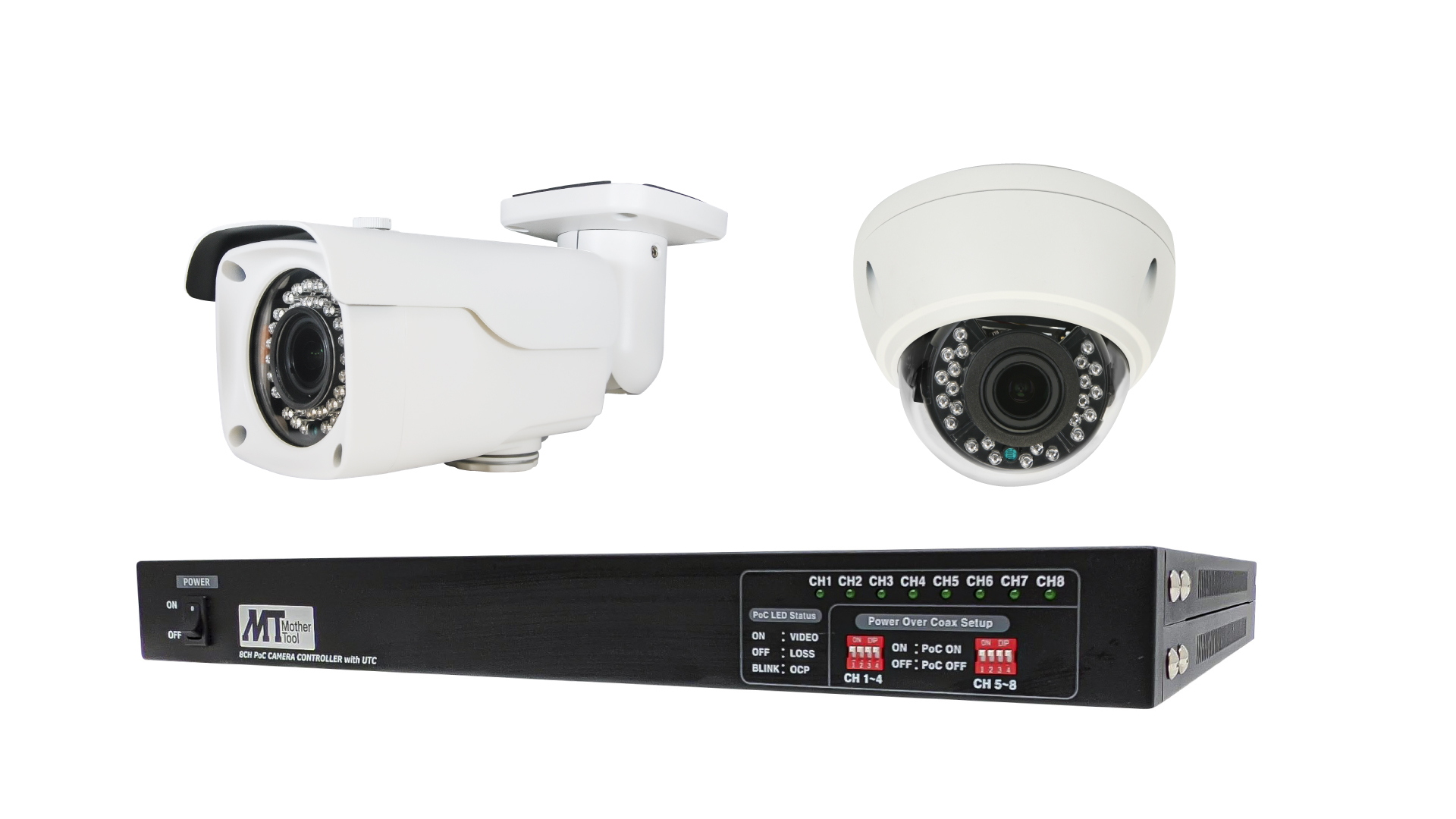 AHDワンケーブルカメラシステム